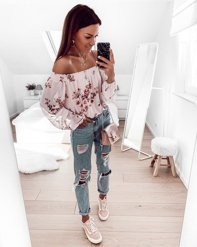 Fiona Off Shoulder Bluse