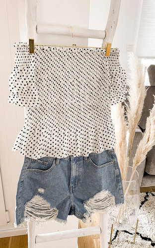 Punkt Cropped Bluse
