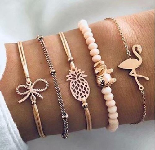 5teiliges Lingo Armband Set