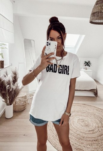 T-Shirt BAD GIRL- versch. Farben