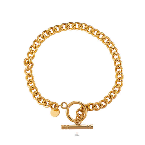 Simples Chain Armband- vergoldet