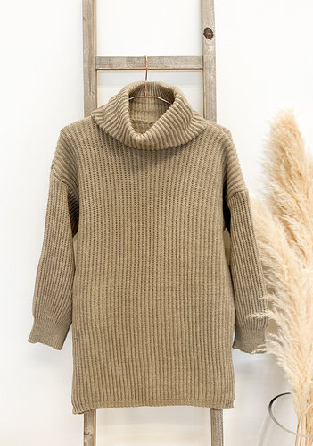 Marie Longpullover- taupe